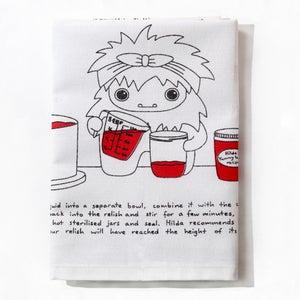 Image of Hilda the Yetis's Heavenly Tomato Relish - Tea Towel