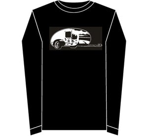 Image of Teardrop Trailer Delux Long Sleeved T Shirt