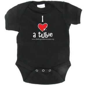 Image of I Heart a Tubie Infant One-piece - Black
