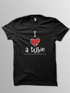 Image of I Heart a Tubie T-Shirts - Black