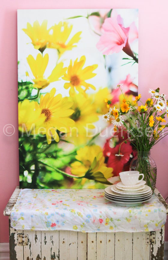 Image of Flowers in the Wind Canvas