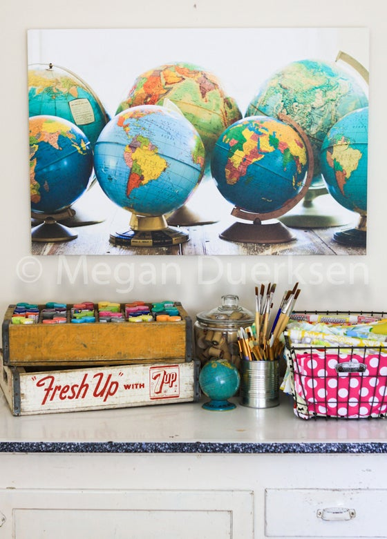 Image of Globes Canvas