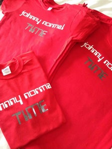 Image of Johnny Normal 'TIME' Red T-shirt