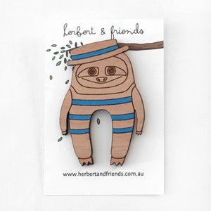 Image of Bather Sloth brooch