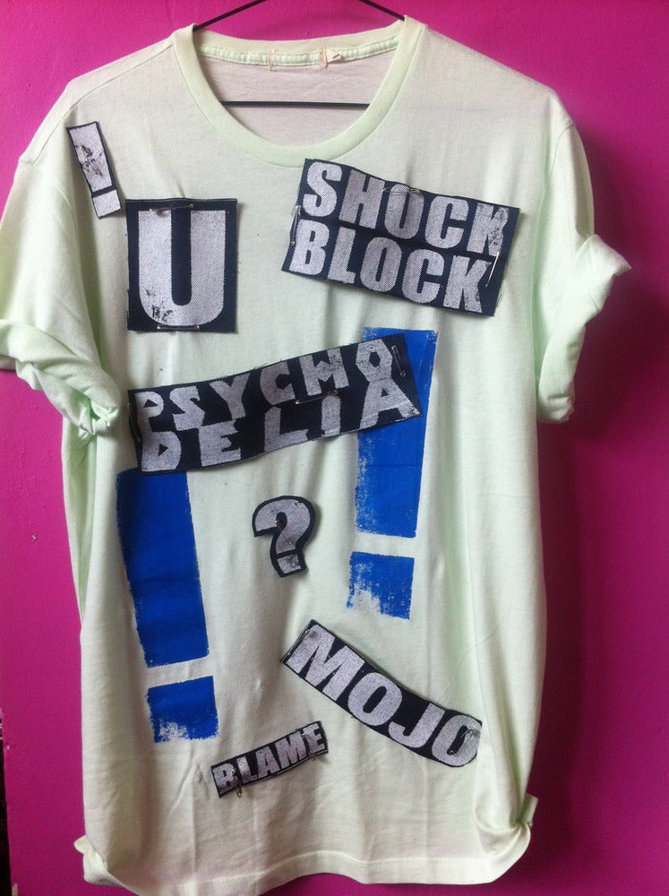 """Image of """"2 DEGREES OF SEPARATION"""" PSYCHO DELIA D.I.Y LYRIC TEE 1"""