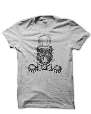 Image of MIR08 TOPHAT CAT T-Shirt (7 COLORS)