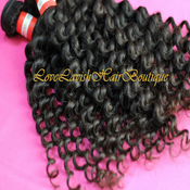 Image of Virgin Peruvian Curly (Deep Wave) 300g/3 bundles & 400g/ 4 bundles