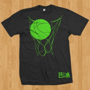 "Image of ""Nothing But Net"" Tee (Black & Neon)"