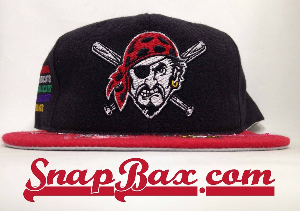 Image of Vintage Deadstock Pittsburgh Pirates #1 Apparel Snapback Hat Cap