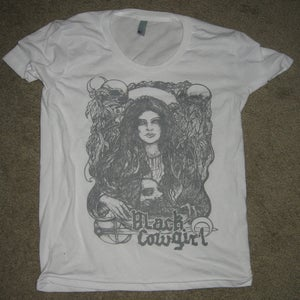 "Image of Black Cowgirl ""Salome"" shirt  (girls t-shirt)"