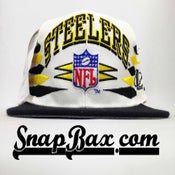 Image of Vintage Deadstock Pittsburgh Steelers Logo Athletic Diamond Snapback Cap