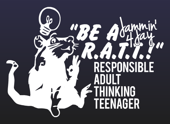 "Image of ""Be a R.A.T.T."" vinyl decal"
