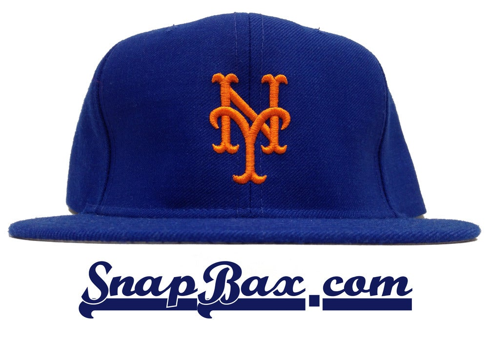 Image of Vintage Deadstock New York Mets New Era Royal Snapback Cap