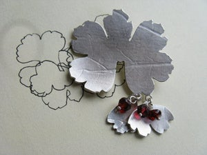 Image of Pressed Leaf Brooch...