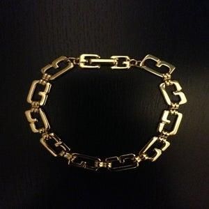 """Image of Vintage Givenchy Gold """"G"""" Link Bracelet"""