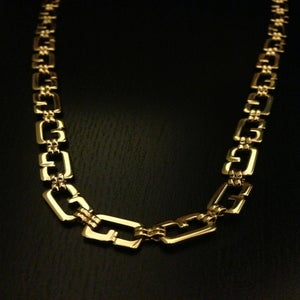 "Image of Vintage Givenchy Gold ""G"" Link Chain"