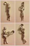 Image of Sterling Silver #23 Michael Jordan Moving-parts Pendant (.925 silver)