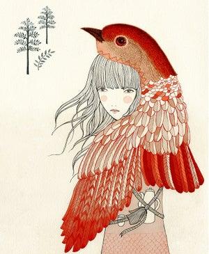 Image of Print chica petirrojo
