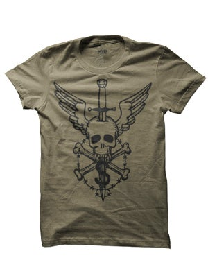Image of MIR035 FLYING SKULL T-Shirt (7 COLORS)