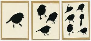 Image of hand made bird greeting cards (3pk)