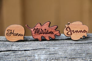 Image of Personalized Wood Name Ring - Studio Element