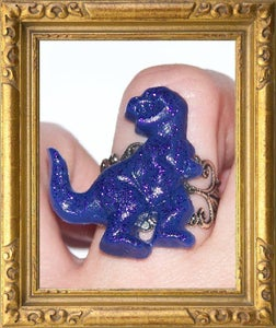 Image of Purple sparkle DINO ring