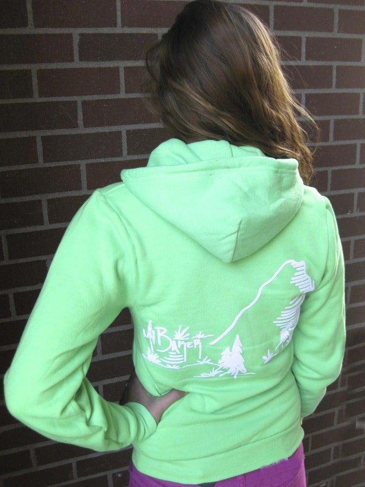Image of Mt. Baker Full Zip Hoodie (Electric Green)