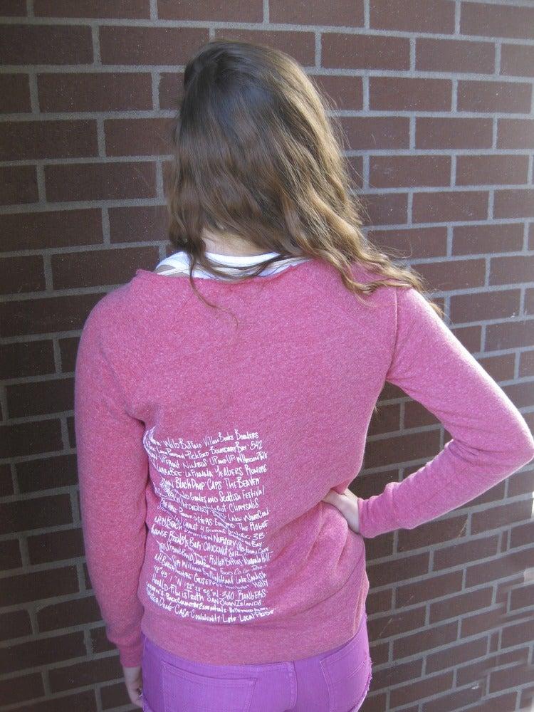 Image of Ladies Bellingham U-Neck Crew Sweatshirt
