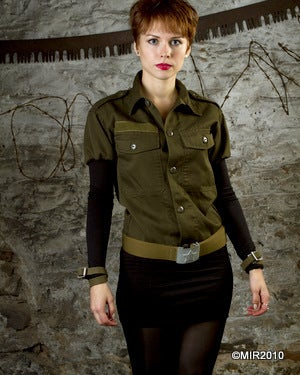 Image of SH17 [THE KATYUSHA] Reconstructed Military Dress with Russian WWII Belt