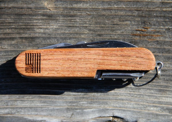 Image of  Personalized Wood American Army Knife