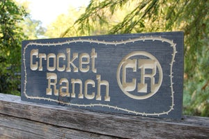 Image of CNC Routed Sign - Select Pine