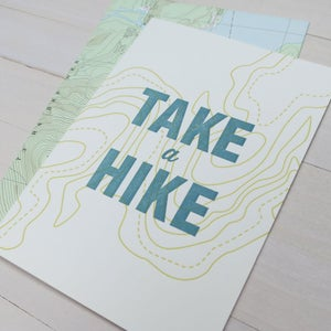 Image of take a hike letterpress card