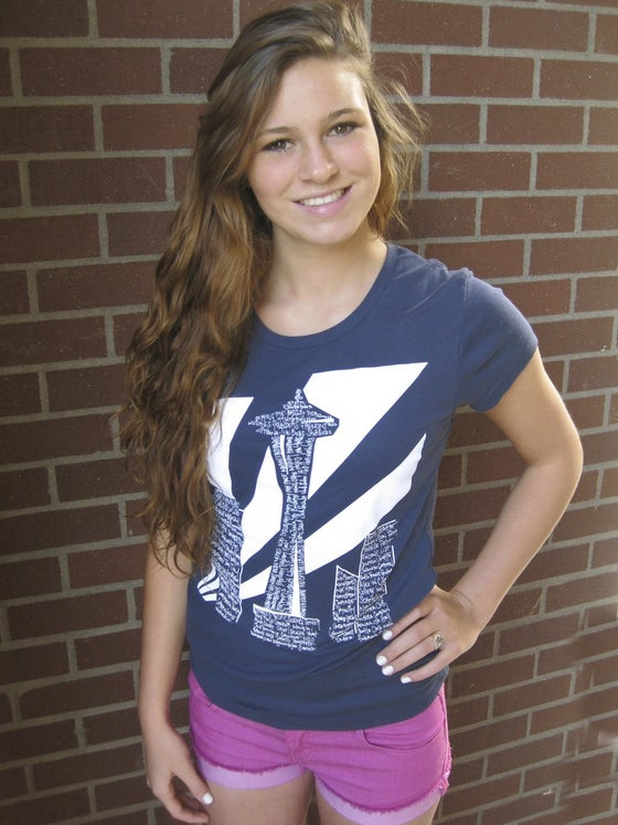 Image of Seattleite Ladies Tee (Long Length - Marine Blue)