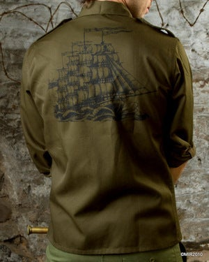 Image of SH30 [True Sailing is Dead] Mens Vintage Army Shirt