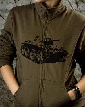 Image of SH12 [PANZERKNACKER] Army Zip-Up Jacket - SHIPS FREE TO US and CANADA