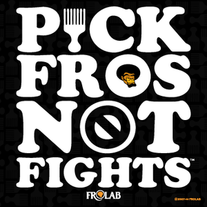 "Image of ""Pick Fros Not Fights™"" stickers"