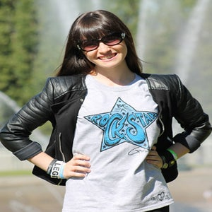 Image of GREY Gabbie Rae Rock Star Tee - NEW!