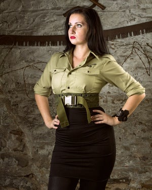 Image of SH11 [AGENT M.I.R] Reconstructed MIlitary Surplus Dress w/ Belt