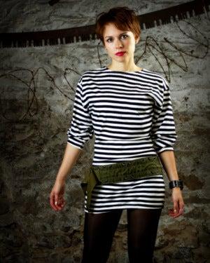 Image of SH20 [AURORA] Russian Sailor Shirt (Telnyashka) Dress - SHIPS FREE TO US and CANADA
