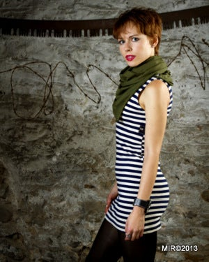 Image of SH31 [THE GREEN MARINE] Telnyashka Dress with GI Neckerchief