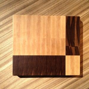 Image of Geometric End Grain Cutting Board 2
