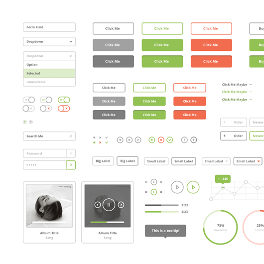 Image of Flat Stroke UI Kit