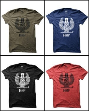 Image of [FIRST 5] MIR01 [OWL MIR] / Russian Criminal Tattoo T-Shirt (7 COLORS)