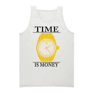 Image of Time Is Money Tank (White)
