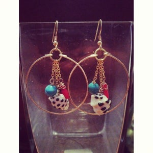 Image of Beachy Drupe Hoops