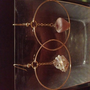 Image of Miss Matched Cone Shell and Drupe Shell Hoops
