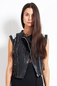 Image of Cropped Sleeveless Misty Biker
