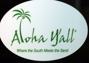 """Image of 4x6 Round Decals """"where the south meets the sand"""""""