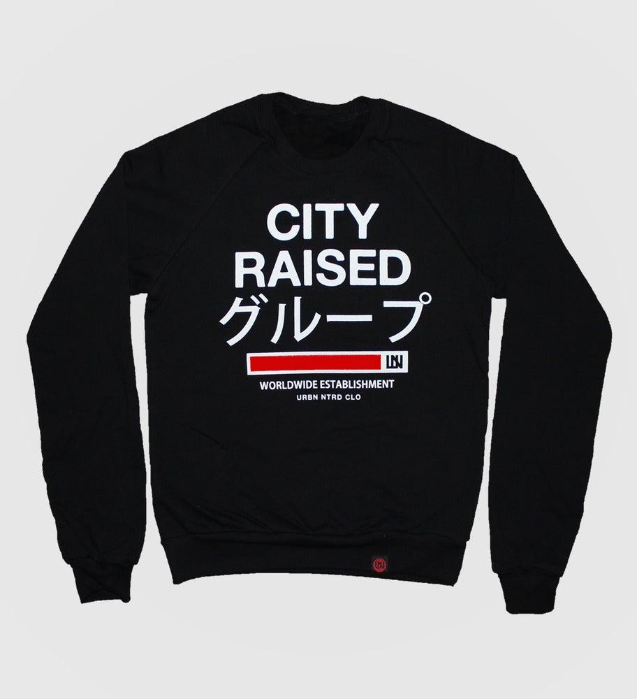 Image of City Raised Group Crewneck (Black)
