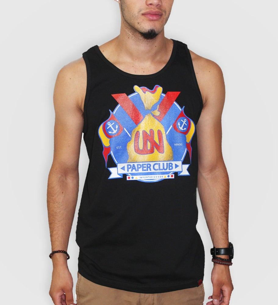 Image of Paper Club Tank Top (Black)
